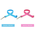 "3/4"" Silkscreened Flat Lanyard with Detachable Buckle"